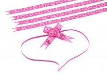 - Pembe Kalpler Küçük Boy Pratik Kurdele (100 Adetlik Paket)