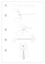 Parlak Altın Küçük Boy Pratik Kurdele (100 Adetlik Paket) - Thumbnail