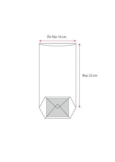 Turuncu Naturel Pencereli Küçük Şeffaf Poşet (100 Adetlik Kutu)