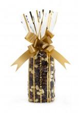 Ekstra Mini Daire Metalize Altın Çizgili Şeffaf Poşet (100 Adetlik Kutu) - Thumbnail