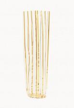 - Mini Daire Metalize Altın Çizgili Şeffaf Poşet (100 Adetlik Kutu)