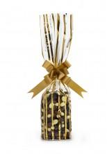 - Mini Daire Metalize Altın Çizgili Şeffaf Poşet (100 Adetlik Kutu) (1)