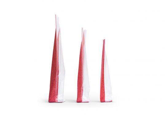 Kırmızı Naturel Pencereli Küçük Şeffaf Poşet (100 Adetlik Kutu)