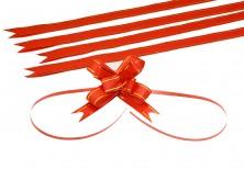 - Kırmızı Altın Şerit Orta Boy Pratik Kurdele (100 Adetlik Paket)