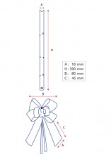 - Kırmızı Altın Şerit Orta Boy Pratik Kurdele (100 Adetlik Paket) (1)