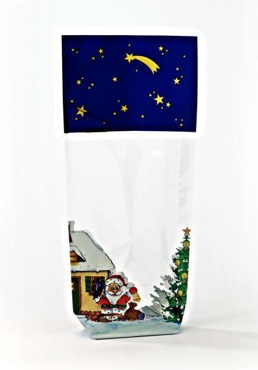 Noel Baba Gece Şeffaf Poşet (100 Adetlik Kutu)