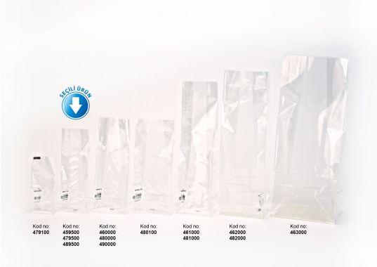 Avantaj + Mini Şeffaf Poşet-FİLM TABAN ETİKETLİ (500 Adetlik Kutu)