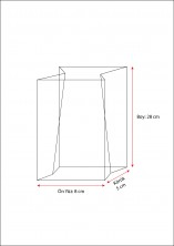 Baskısız Orta Şeffaf Poşet- FİLM TABAN ETİKETLİ(500 Adetlik Kutu) - Thumbnail