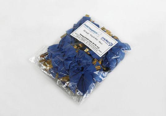Mavi Küçük Boy Klipsli Kurdele (50 Adetlik Paket)