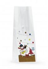 Kardan Adam Etiketli Küçük Şeffaf Poşet (100 Adetlik Kutu) - Thumbnail