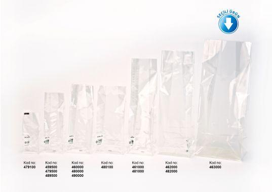 Baskısız Battal Boy Şeffaf Poşet-BEYAZ TABAN ETİKETLİ (500 Adetlik Kutu)
