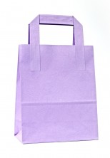 - Dıştan Kulplu Lila Kağıt Çanta (50 Adetlik Paket)
