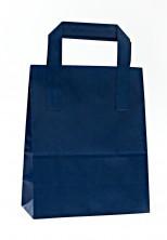 - Dıştan Kulplu Lacivert Kağıt Çanta (50 Adetlik Paket)