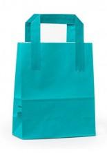- Dıştan Kulplu Turkuaz Kağıt Çanta (500 Adetlik Kutu)