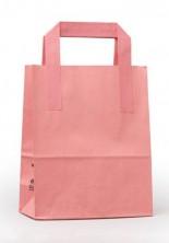- Dıştan Kulplu Pembe Kağıt Çanta (50 Adetlik Kutu)