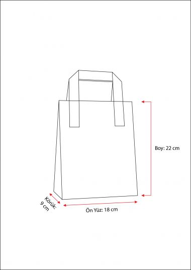Dıştan Kulplu Yeşil Kağıt Çanta (50 Adetlik Kutu)
