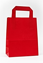 Dıştan Kulplu Kırmızı Kağıt Çanta (50 Adetlik Kutu) - Thumbnail