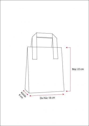 Dıştan Kulplu Kırmızı Kağıt Çanta (50 Adetlik Kutu)