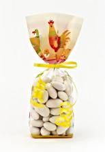 Renkli Tavuk Şeffaf Poşet (100 Adetlik Kutu)