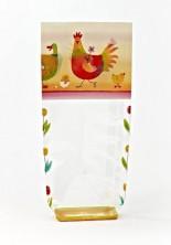 Renkli Tavuk Şeffaf Poşet (100 Adetlik Kutu) - Thumbnail