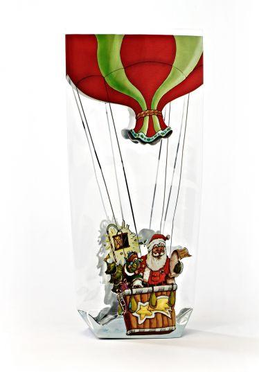 Noel Baba Balonda Şeffaf Poşet (100 Adetlik Kutu)
