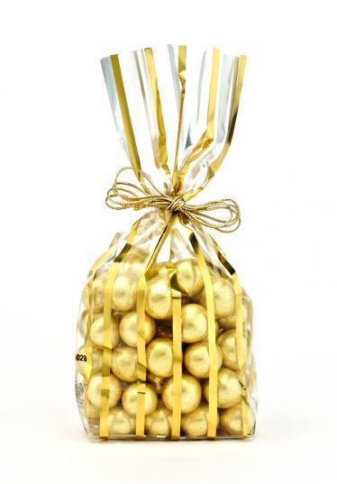 Metalize İnce Altın Küçük Şeffaf Poşet (500 Adetlik Kutu)
