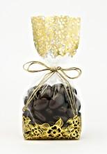 Metalize Altın Çiçek Küçük Şeffaf Poşet (500 Adetlik Kutu) - Thumbnail