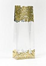 - Metalize Altın Çiçek Küçük Şeffaf Poşet (500 Adetlik Kutu)