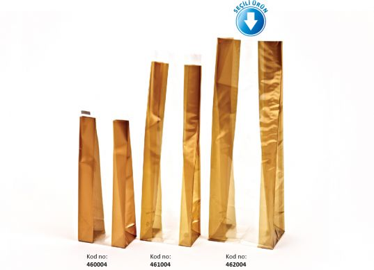 Kalın Altın Büyük Şeffaf Poşet (500 Adetlik Kutu)