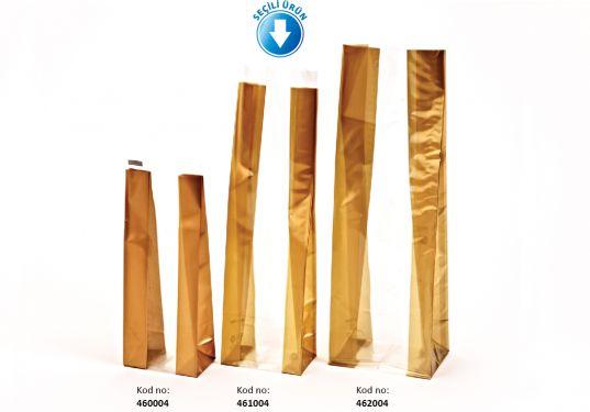 Kalın Altın Orta Şeffaf Poşet (500 Adetlik kutu)